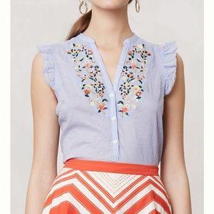 Maeve Threadbloom embroidered sleeveless top